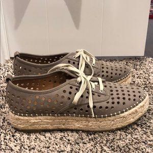 Indigo wedge shoes
